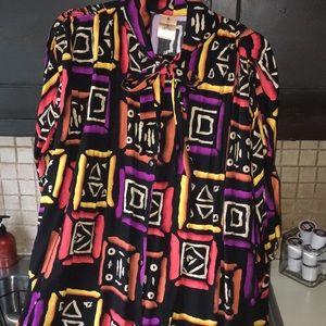 Vintage jumpsuit with ethnic print